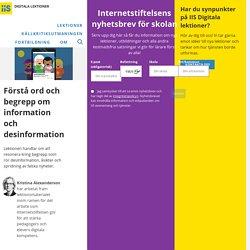 Förstå ord och begrepp om information och desinformation