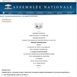 N°3517 - Rapport d'information de MM. François-Michel Gonnot et Philippe Martin (Gers) déposé en application de l'article 145 du règlement, par la commission du développement durable et de l'aménagement du territoire, en conclusion des travaux d'une miss