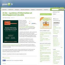 A lire : système d'information et développement durable