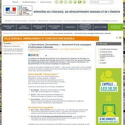 « J'éco-rénove, j'économise » : lancement d'une campagne d'information nationale