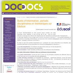 Outils d'information, portails disciplinaires et thématiques sur EduScol