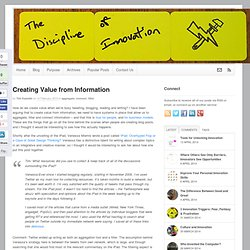 Creating Value from Information « Aggregate