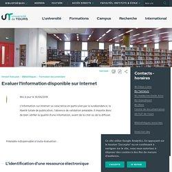 Evaluer l'information disponible sur Internet
