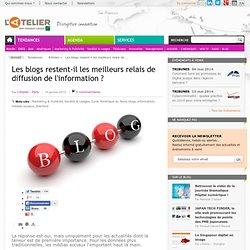Les blogs restent-il les meilleurs relais de diffusion de l'information ?
