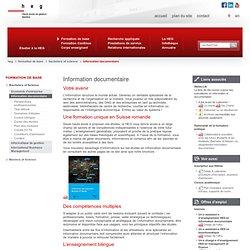 Haute école de gestion de Genève - Formation de base - Bachelors of Science - Spécialiste en information documentaire