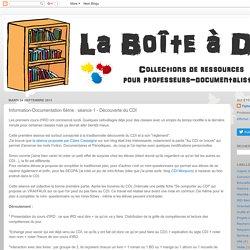 Boite à docs: Information-Documentation 6ème : séance 1 - Découverte du CDI