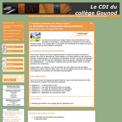 La formation en information-documentation