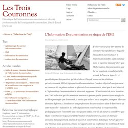 L'Information-Documentation au risque de l'EMI