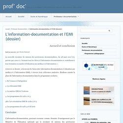 L'information-documentation et l'EMI (dossier)