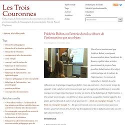 Frédéric Rabat, ou l'entrée dans la culture de l'information par ses o
