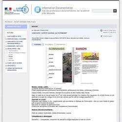 """Concours """"le petit journal du patrimoine"""""""