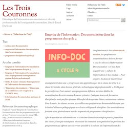 Emprise de l'Information-Documentation dans les programmes du cycle 4