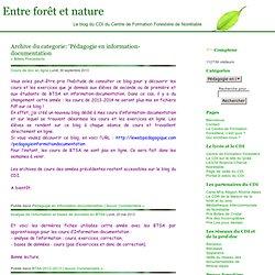 Pédagogie en information-documentation « Entre forêt et nature