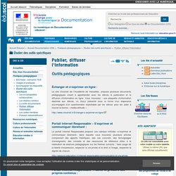 Publier, diffuser l'information — Documentation (CDI)