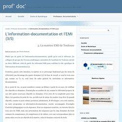 Matrice Info-doc et EMI de Toulouse