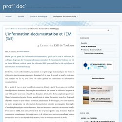 L'information-documentation et l'EMI (3/5) - prof' doc'