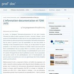 L'information-documentation et l'EMI (4/5) - prof' doc'