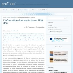 L'information-documentation et l'EMI (1/5) - prof' doc'