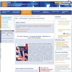 I2D - Information, données & documents