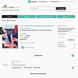 Revue I2D – Information, données & documents 2017/1