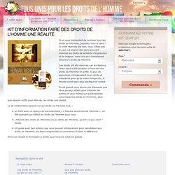 """Kit d'information """"Faire des droits de l'Homme une réalité"""""""