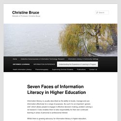 Seven Faces of Information Literacy in Higher Education