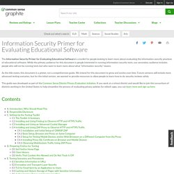 Information Security Primer for Evaluating Educational Software