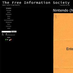 Nintendo (NES) Electronic Circuit Schematic