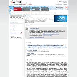 Réduire les silos d'information – Bilan d'expérience au Cirque du Soleil avec la gestion électronique des documents