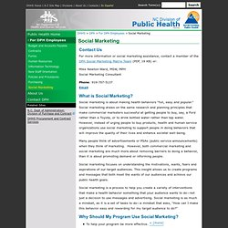 Public Health: Information for Employees > Social Marketing