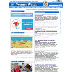 WomenWatch: UN Information and Resources on Gender Equality and Empowerment of Women