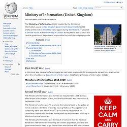Ministry of Information (United Kingdom)