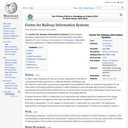 Centre for Railway Information Systems
