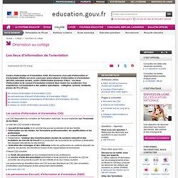 Lieux d'information de l'orientation - Ministère de l'éducation nationale