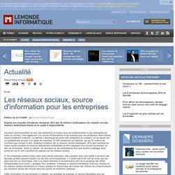 Les réseaux sociaux, source d'information pour les entreprises