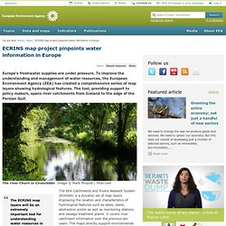 ECRINS map project pinpoints water information in Europe