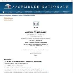 1776 - Rapport d'information déposé en application de l'article 145 du Règlement par la commission des affaires culturelles sur les établissements et services sociaux et médico-sociaux (rapporteur: M.Pierre Morange)
