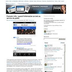 Francetv info : quand l'information se met au service du public