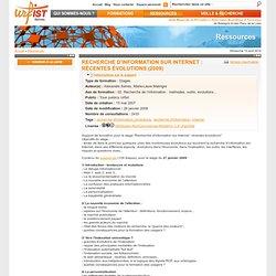 Recherche d'information sur Internet : récentes évolutions
