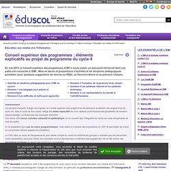 Éducation aux médias et à l'information - Conseil supérieur des programmes : éléments explicatifs au projet de programme du cycle 4