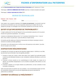 INFORMATION patients EXPLICATION