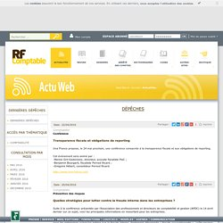 RF comptable : information comptable, juridique, financière pour la profession comptable