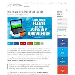 Information Fluency to the Rescue