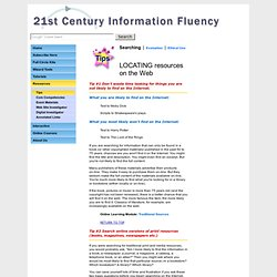 information fluency search tips