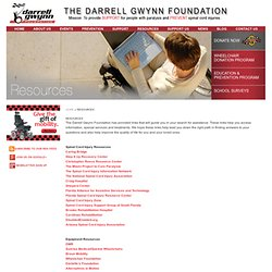 Spinal Cord Injury Resources And Information - Darrell Gwynn Foundation