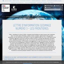 LETTRE D'INFORMATION GEOIMAGE NUMERO 3 - LES FRONTIERES