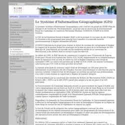 Le Système d'Information Géographique(GIS)