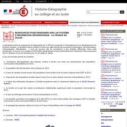 Ressources pour enseigner avec un système d'information géographique - La France en villes