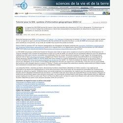 sciences de la vie et de la Terre - Tutoriel pour le SIG: système d'information géographique QGIS 3.4