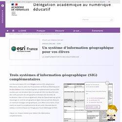 Un système d'information géographique pour vos élèves